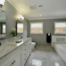 Transitional Bathroom by LA Dwelling