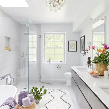 Master Bath. Larchmont, New York