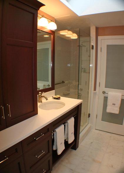 Transitional Bathroom by Artisan Kitchens LLC