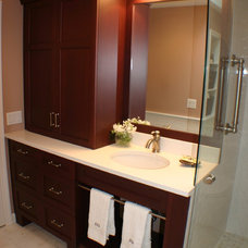 Transitional Bathroom by Artisan Kitchens LLC