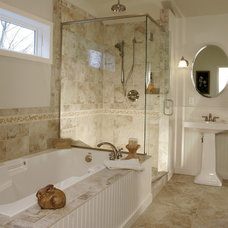 Traditional Bathroom by Linda Florio - Progressive Builders Northwest