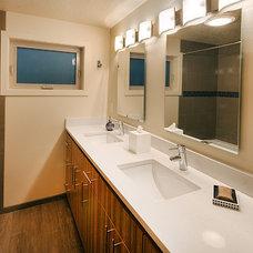 Contemporary Bathroom by Linda Florio - Progressive Builders Northwest