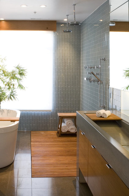 contemporary bathroom by modern house architects