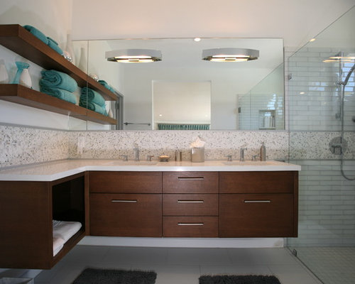 SaveEmail. Houzz   L Shaped Vanity Design Ideas   Remodel Pictures