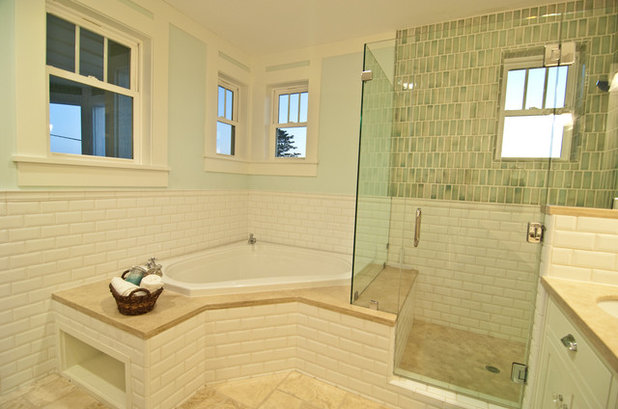 Bathroom Tiles To Ceiling designer trick: take your shower tile to the ceiling