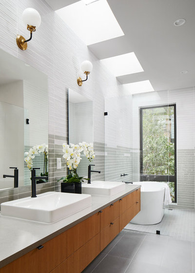 Contemporary Bathroom by North Arrow Studio