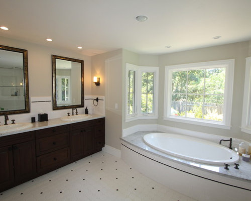 Clay beige home design ideas pictures remodel and decor Bathroom recessed lighting placement