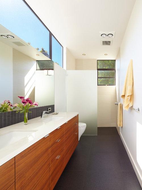 Narrow bathroom home design ideas renovations photos for Narrow bathroom design
