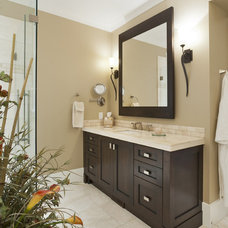 Transitional Bathroom by Old World Kitchens & Custom Cabinets