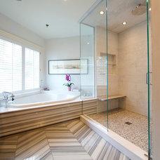 Contemporary Bathroom by Parallax Design LLC
