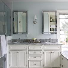 Transitional Bathroom by Cabin John Builders
