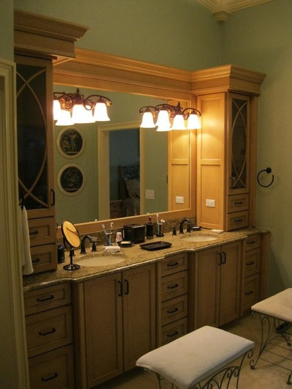 Traditional Bathroom by H & R Cabinets Inc