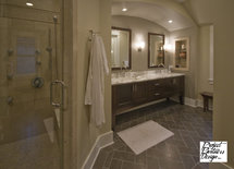 What tile is used for the floor in this bathroom? It looks great!