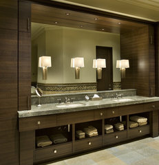 contemporary bathroom by R.J. Gurley Custom Homes
