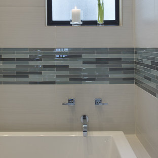 Bathroom - contemporary mosaic tile bathroom idea in San Francisco
