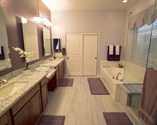 master bath remodel - gray & purple spa