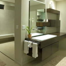 Modern Bathroom by Baker + Hesseldenz Design, Inc.