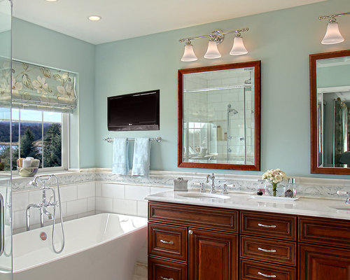Galley style bathroom houzz for Galley style bathroom