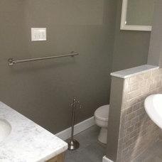 Contemporary Bathroom by AD Panaccio Building and Renovating Inc.