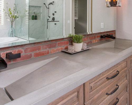 bathroom design ideas renovations photos with a trough sink. Black Bedroom Furniture Sets. Home Design Ideas