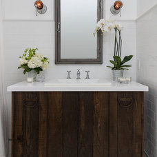 Farmhouse Bathroom by FOUR POINT Design+Construction Inc.