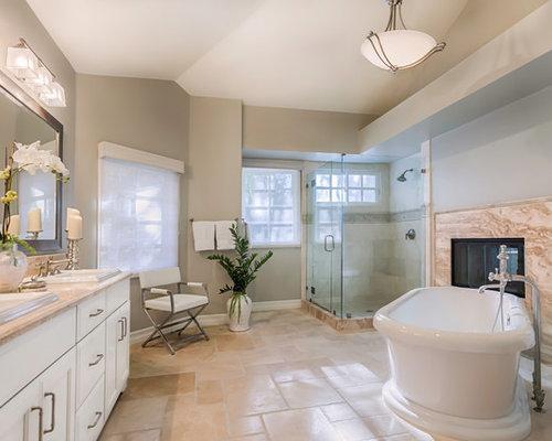 Transitional Master Bath Remodel In Woodland Hills