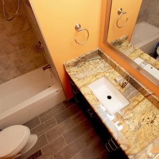Master Bath Renovation Tiled Grey Shower ~ Brunswick, OH