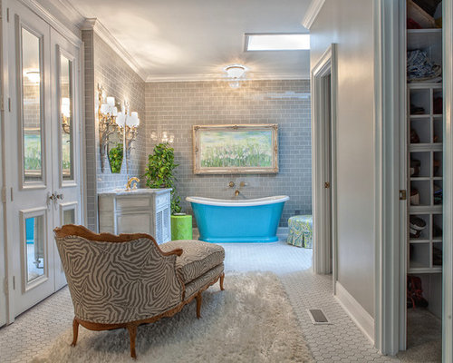 bathroom small cabinets subway tile walls houzz 11517