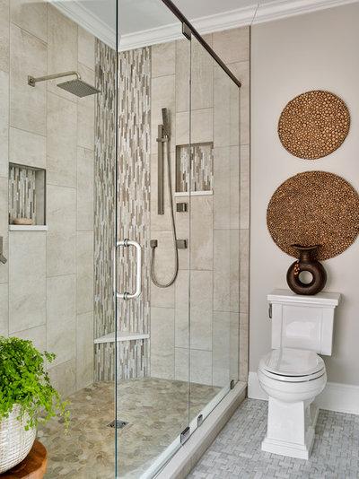 Spectacular Transitional Bathroom by Kandrac u Kole Interior Designs