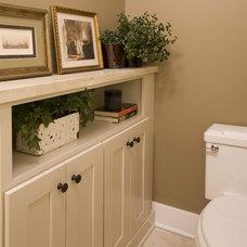 Traditional Bathroom by Kayron Brewer, CKD, CBD / Studio K B