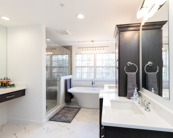 galley style master bath home design ideas, pictures, remodel and