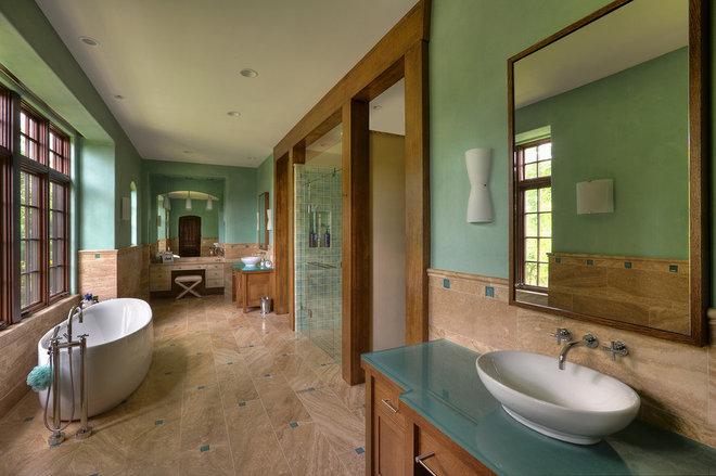 Mediterranean Bathroom by RWA Architects