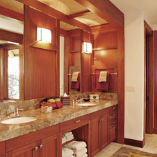 Tropical Bathroom by Saint Dizier Design