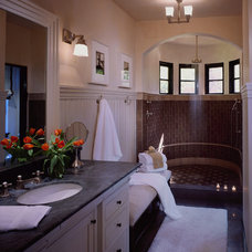 mediterranean bathroom by Saint Dizier Design