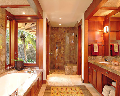 Hawaiian bathroom home design ideas pictures remodel and for Tropical bathroom design