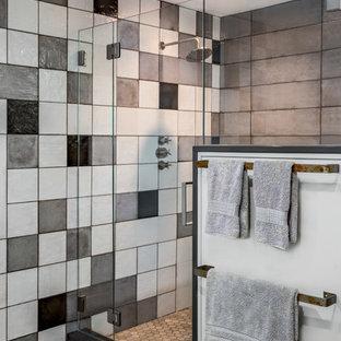 Inspiration för industriella badrum