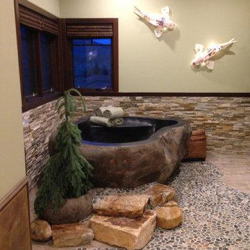 Master Bath Solid Stone Bathtub-Huntsville