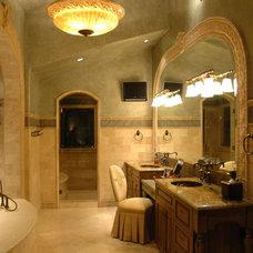 Mediterranean Bathroom by Spencer Interior Design