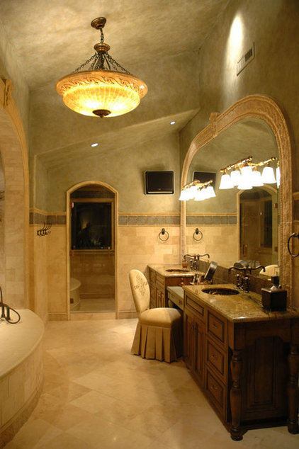 Mediterranean Bathroom by Spencer Interior Design