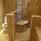 Master Bath Steam Shower Contemporary Bathroom New