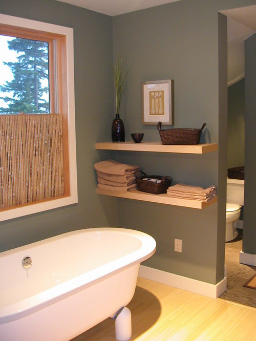 Contemporary Freestanding Bathtub Idea In Seattle