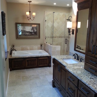 75 beautiful bathroom and cloakroom with travertine
