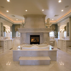 mediterranean bathroom by Macaluso Designs, Inc.