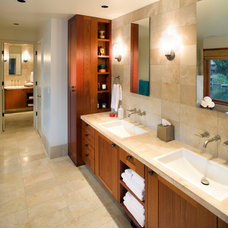 Asian Bathroom by Richard Brown Architect AIA