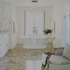 Farmhouse Bathroom by Palm Design Group