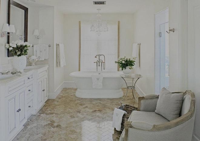 Farmhouse Bathroom by Palm Design Group