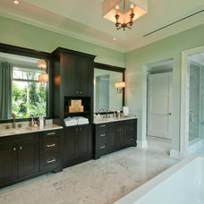 Transitional Bathroom by The Williams Group Inc.