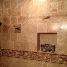 Traditional Bathroom Master Bath - track home blah to spa ah!
