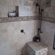 Traditional Bathroom Master Bath - track home blah to spa ah!