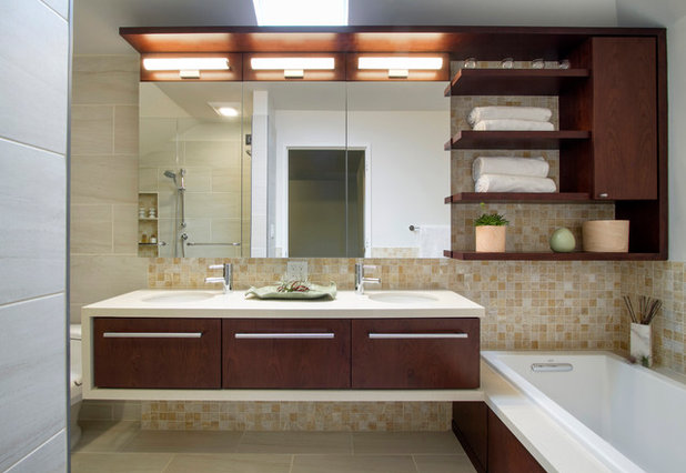 Modern Bathroom by Princeton Design Collaborative